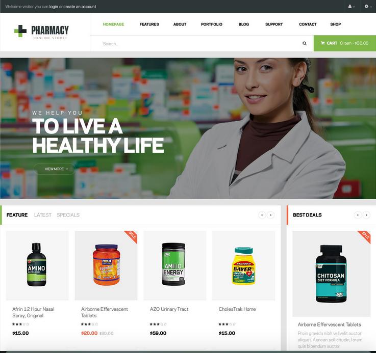 comercios en line para farmacias