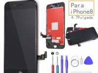 repuesto pantalla iphone 8 negra