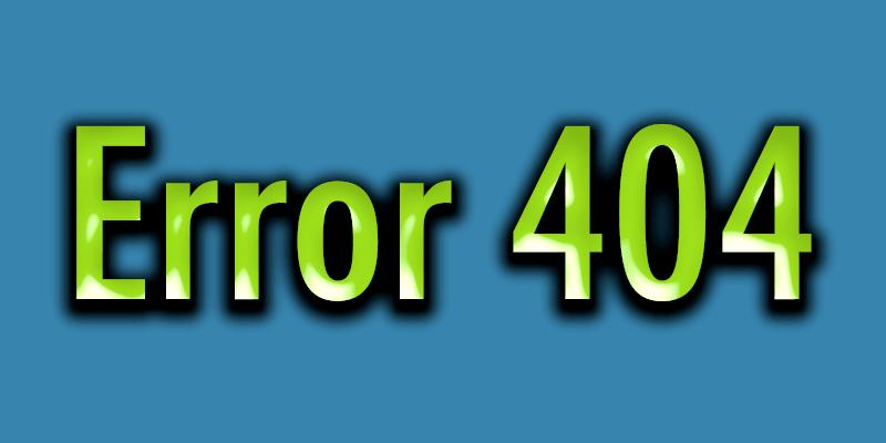 Error 404 qué es y como solventarlo