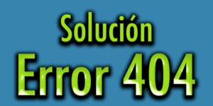 solución error 404
