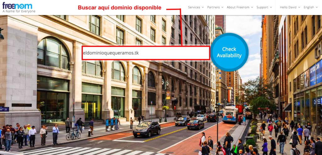 Registrar dominio gratis paso 4