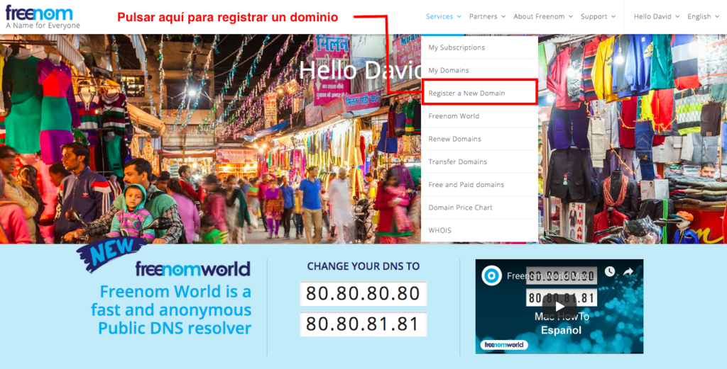 registrar dominio gratis paso 3