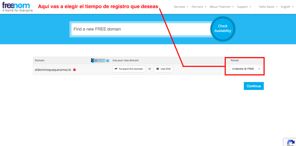 registrar dominio gratis paso 6