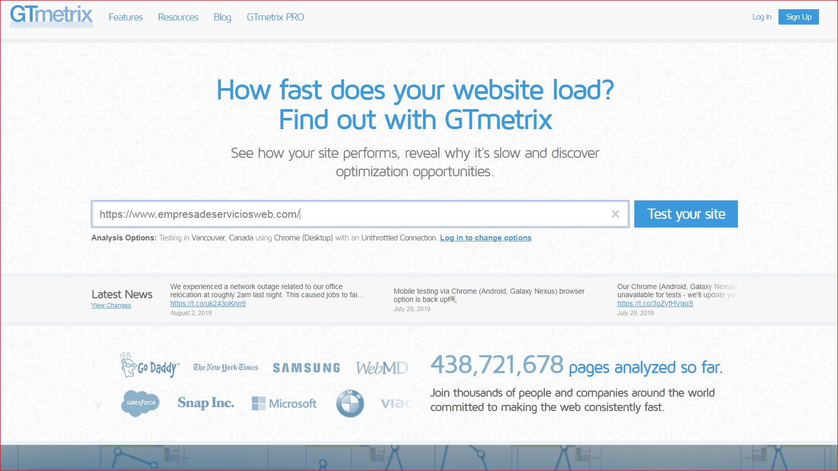 La importancia de la Velocidad Web