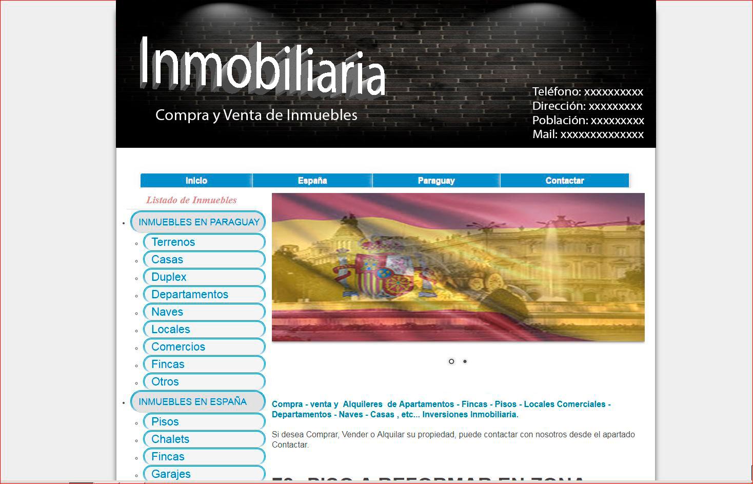 Diseño página webs para inmobiliarias