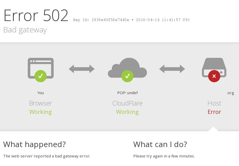 Solución de problemas de errores de Cloudflare 5XX